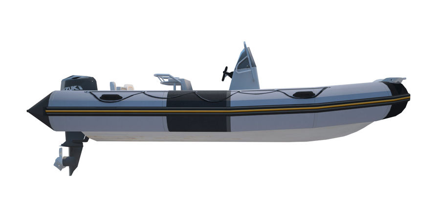 Inflatable boat Zodiac ProOpen 550 royalty-free 3d model - Preview no. 4