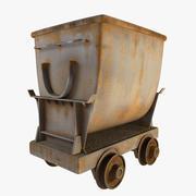 old mine cart 3d model