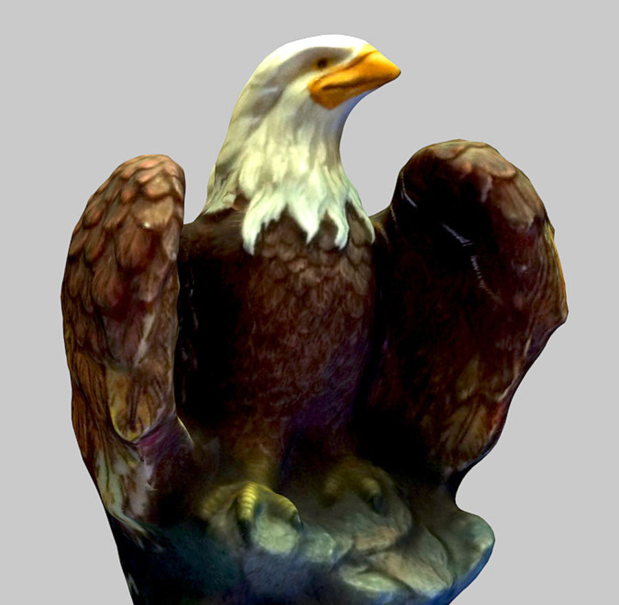 Eagle Textured 2 qualities royalty-free 3d model - Preview no. 1