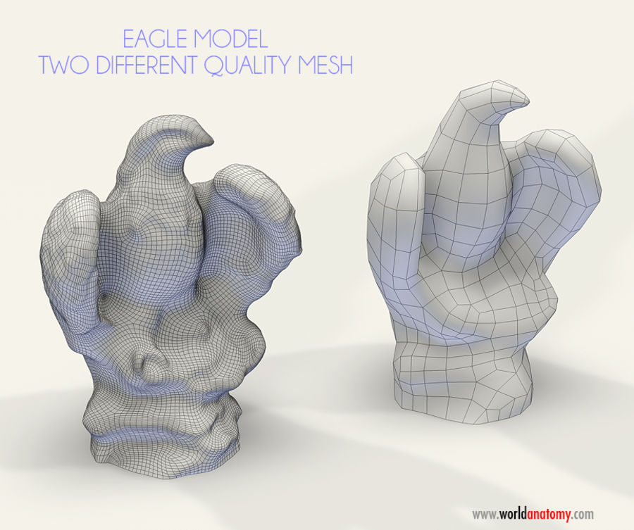Eagle Textured 2 qualities royalty-free 3d model - Preview no. 2
