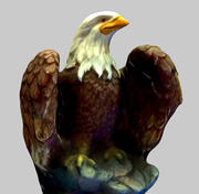 Eagle Textured 2 qualities 3d model