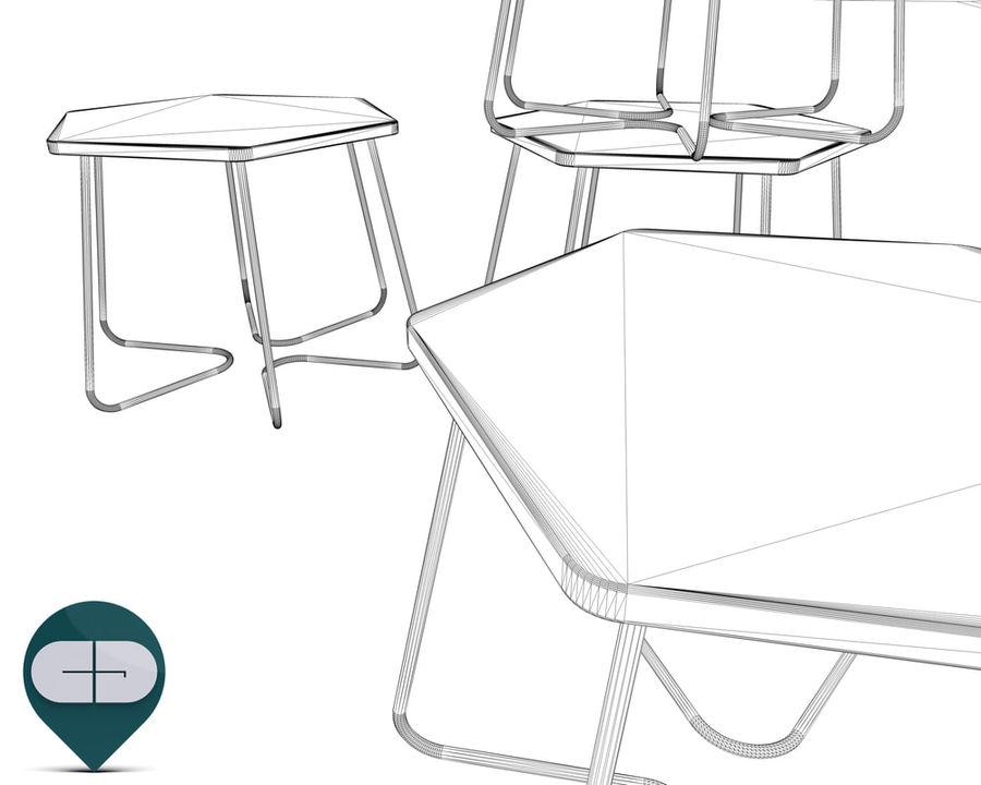 table Hexagon Bijzettafel royalty-free 3d model - Preview no. 8