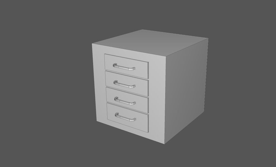 Domowe opakowanie przedmiotów wewnętrznych (Rozszerzone) royalty-free 3d model - Preview no. 39