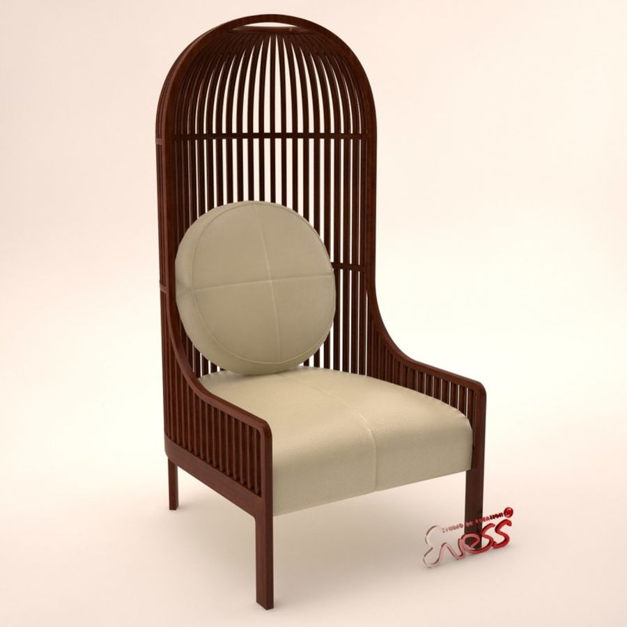 Armchair Autoban Nest Lounge Royalty Free 3d Model   Preview No. 1