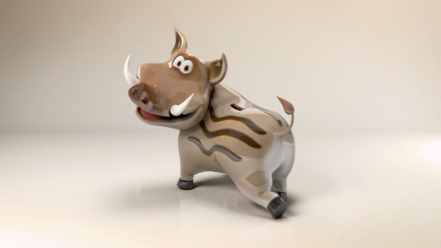 Beer 3D cartoon karakter royalty-free 3d model - Preview no. 2