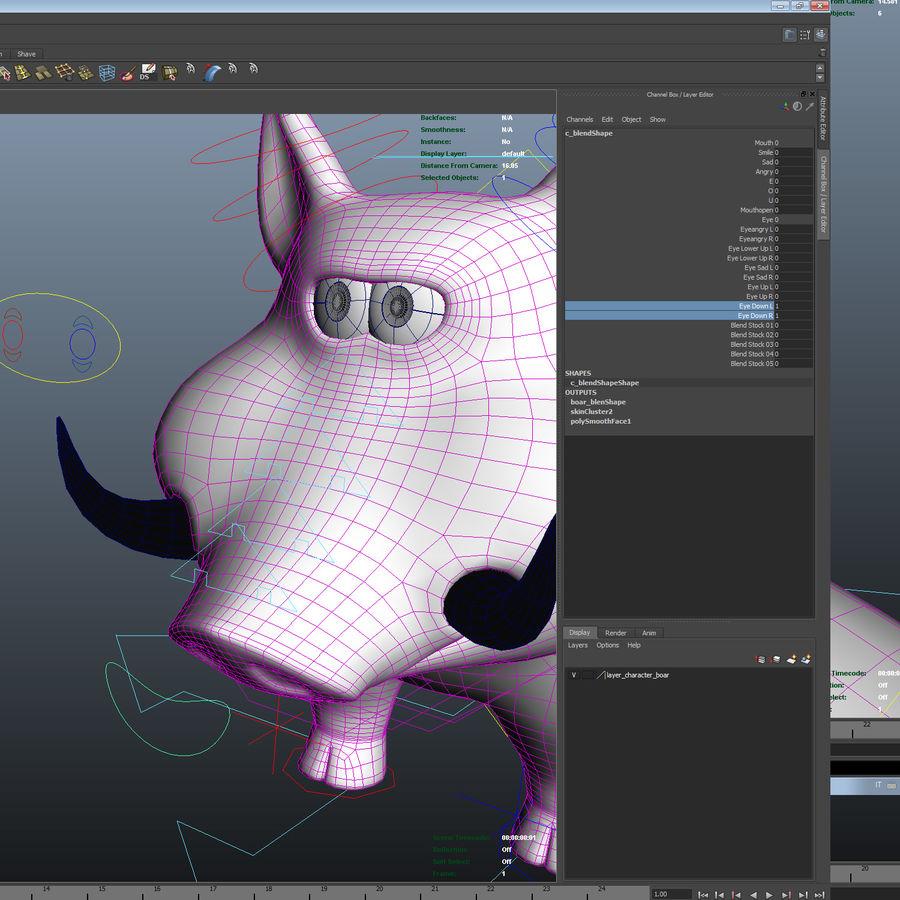 Beer 3D cartoon karakter royalty-free 3d model - Preview no. 22