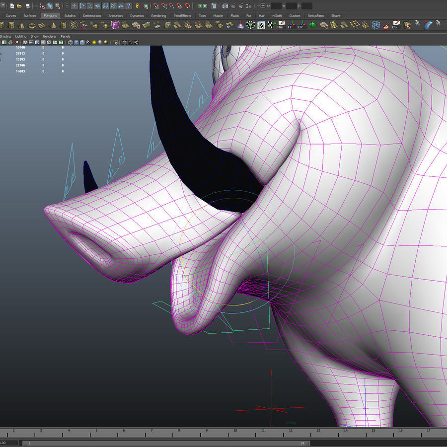 Beer 3D cartoon karakter royalty-free 3d model - Preview no. 11