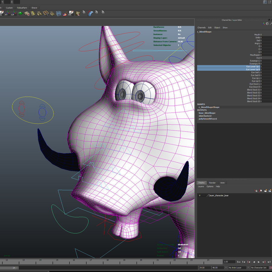 Beer 3D cartoon karakter royalty-free 3d model - Preview no. 24