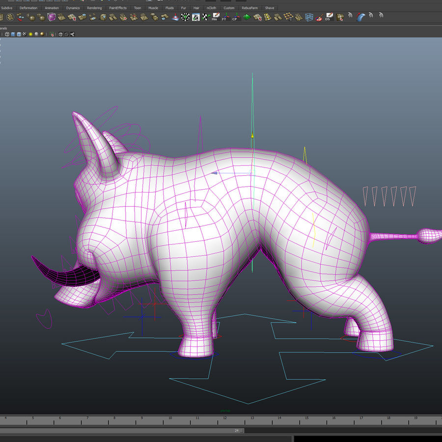 Beer 3D cartoon karakter royalty-free 3d model - Preview no. 18