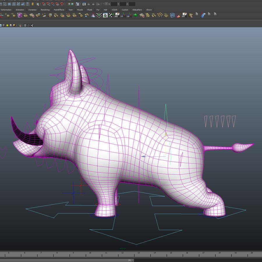 Beer 3D cartoon karakter royalty-free 3d model - Preview no. 20