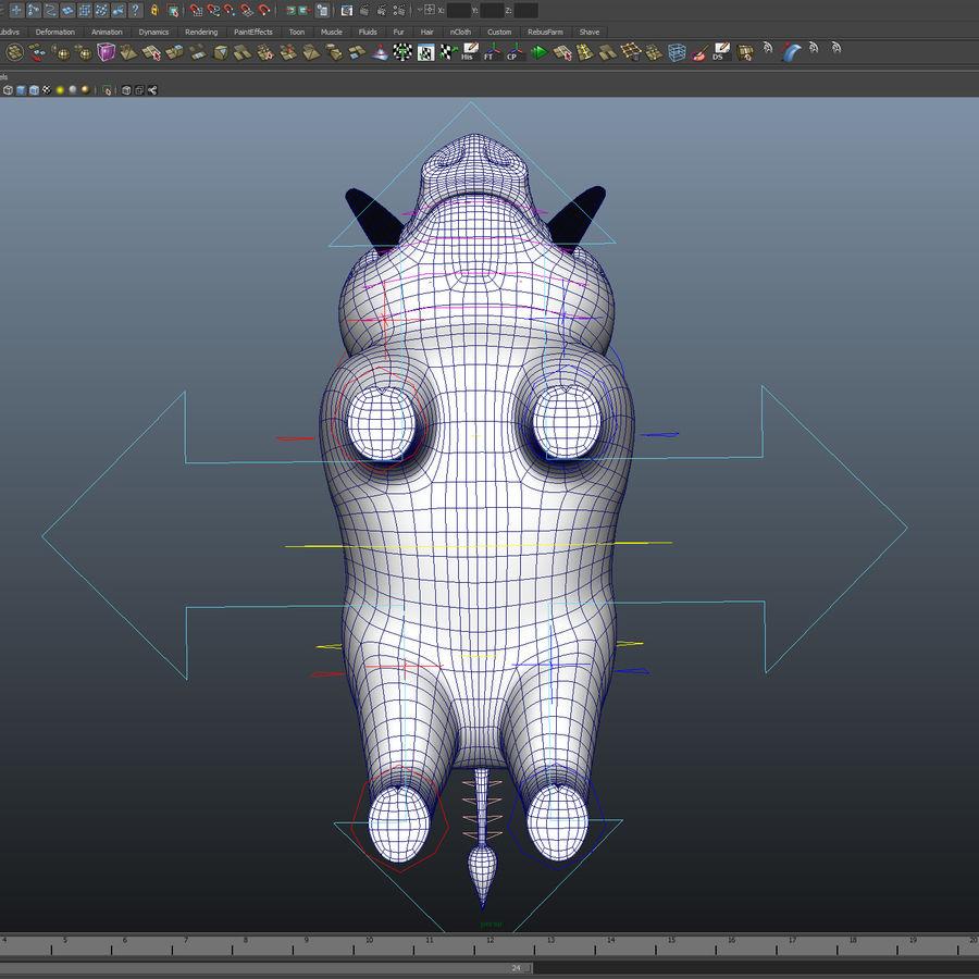 Beer 3D cartoon karakter royalty-free 3d model - Preview no. 9