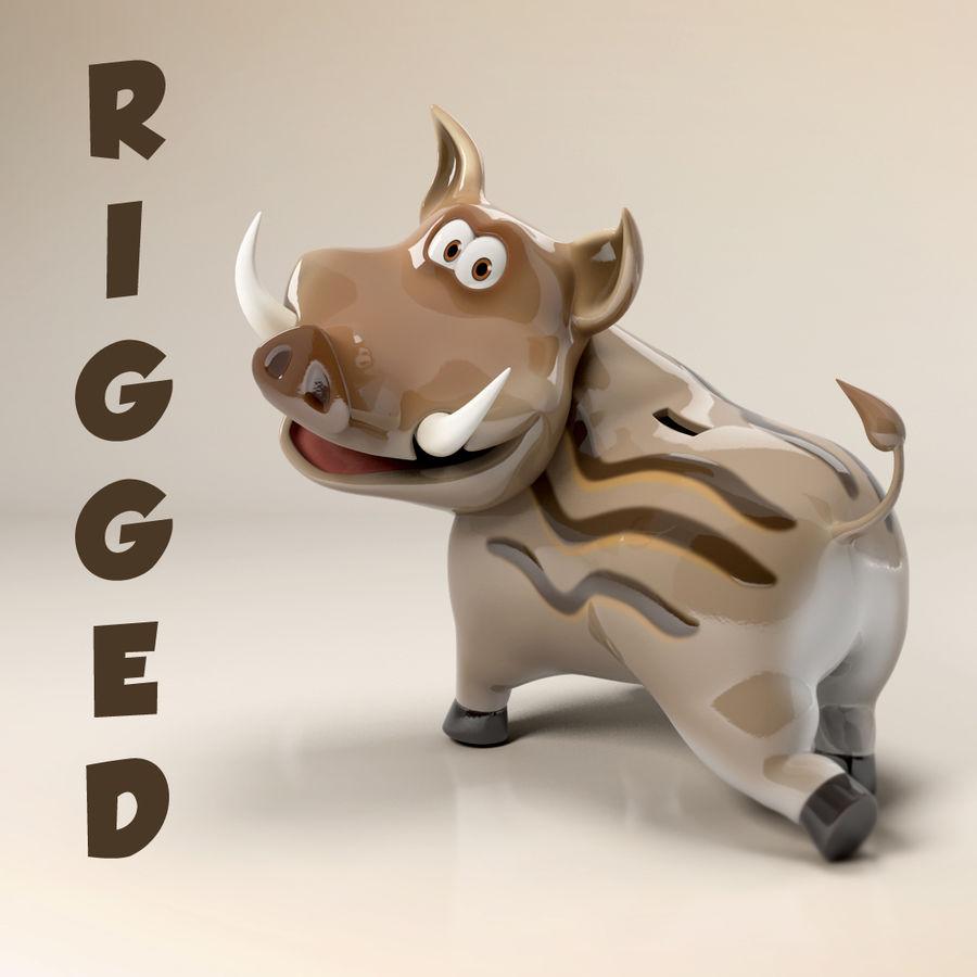 Beer 3D cartoon karakter royalty-free 3d model - Preview no. 1