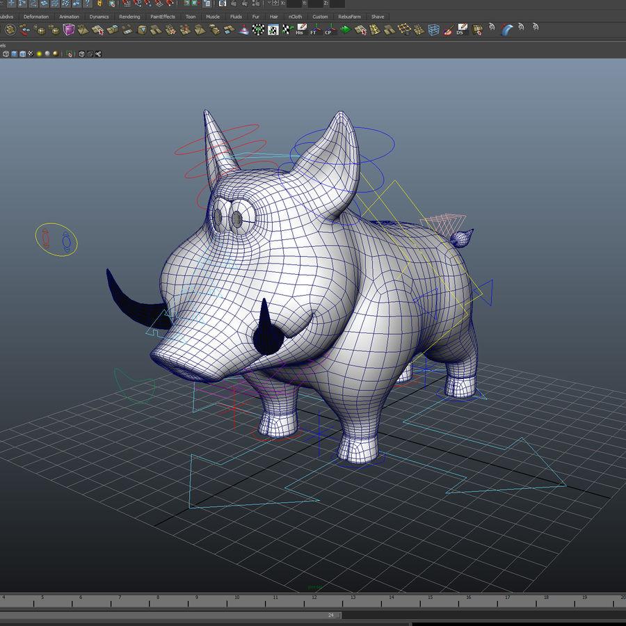 Beer 3D cartoon karakter royalty-free 3d model - Preview no. 5