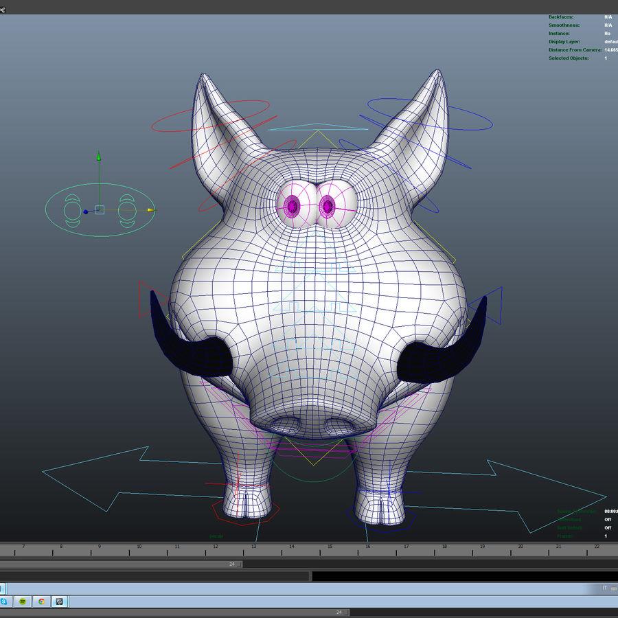 Beer 3D cartoon karakter royalty-free 3d model - Preview no. 15