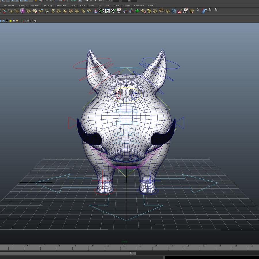 Beer 3D cartoon karakter royalty-free 3d model - Preview no. 6