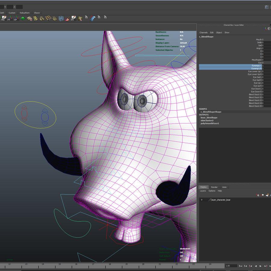Beer 3D cartoon karakter royalty-free 3d model - Preview no. 25