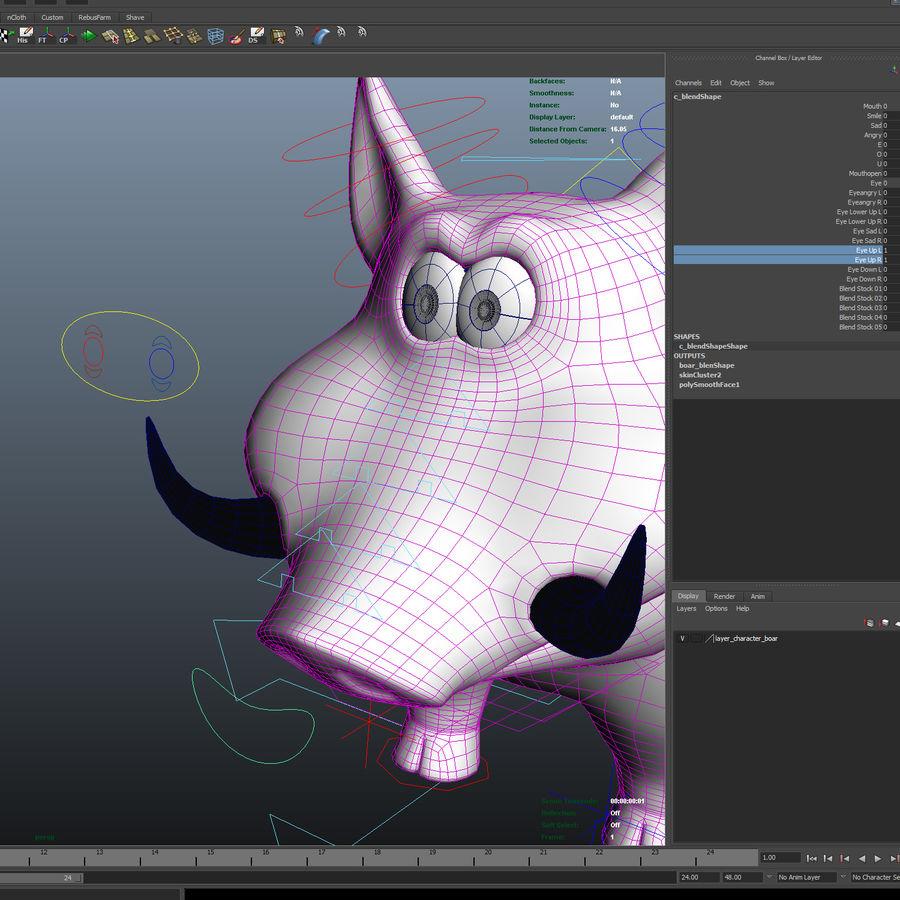 Beer 3D cartoon karakter royalty-free 3d model - Preview no. 23