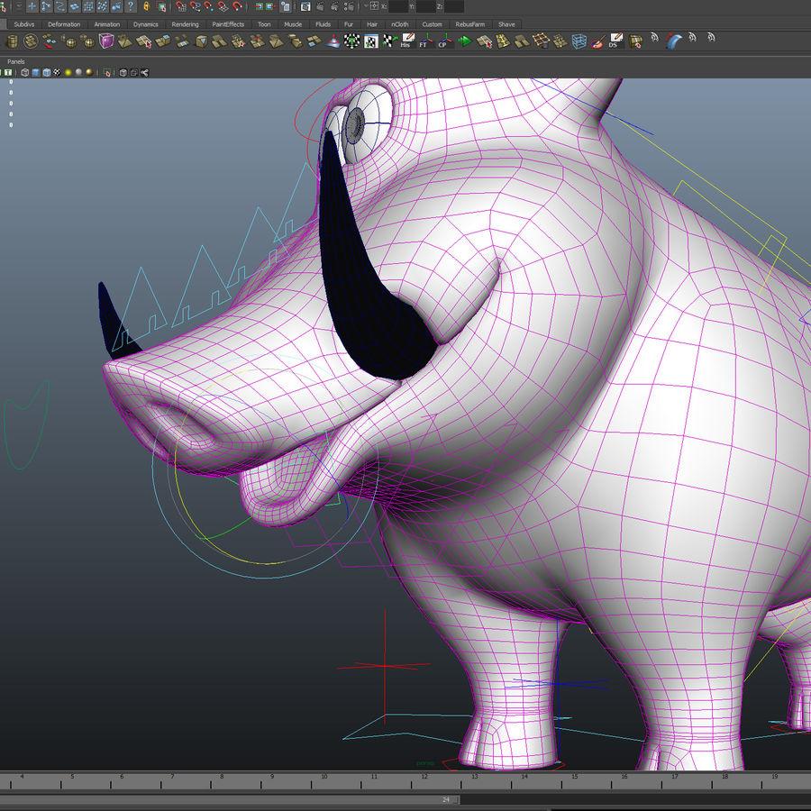 Beer 3D cartoon karakter royalty-free 3d model - Preview no. 10