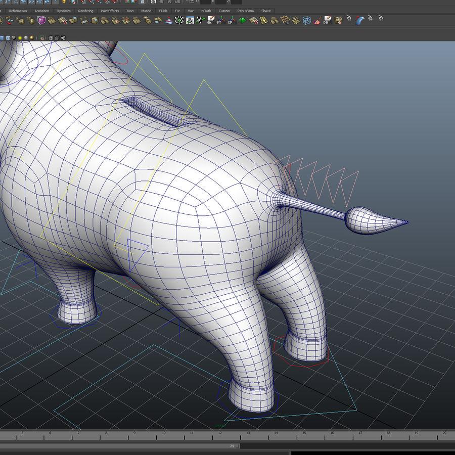 Beer 3D cartoon karakter royalty-free 3d model - Preview no. 8