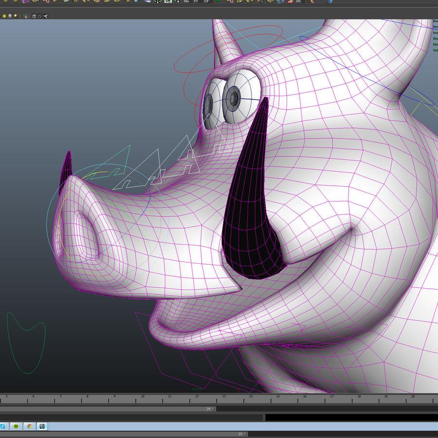 Beer 3D cartoon karakter royalty-free 3d model - Preview no. 14