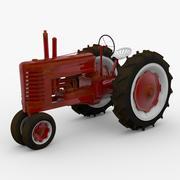 Vintage Field Tractor 3d model