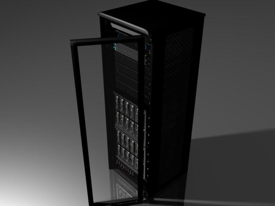Server Rack 2 royalty-free 3d model - Preview no. 4