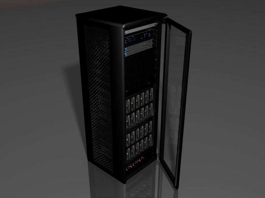 Server Rack 2 royalty-free 3d model - Preview no. 1
