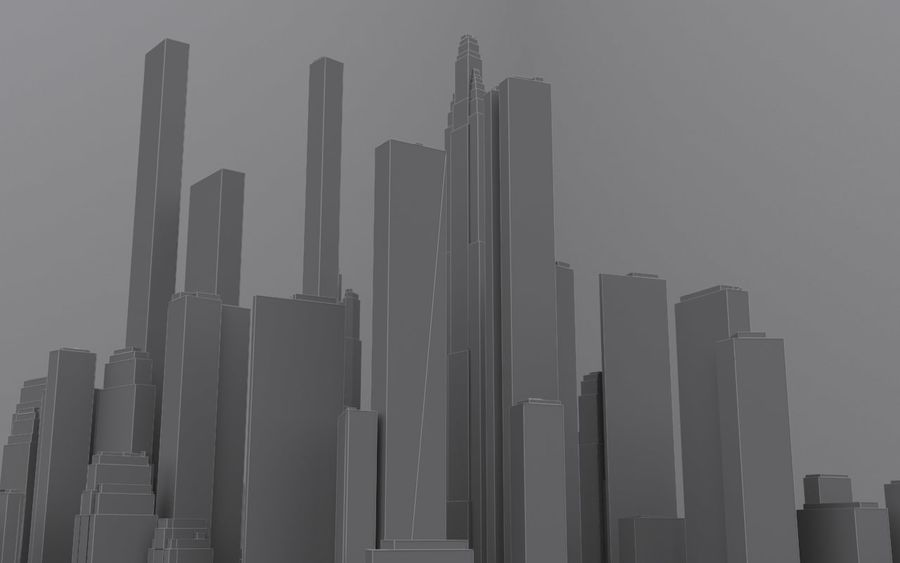 Distant City royalty-free 3d model - Preview no. 3