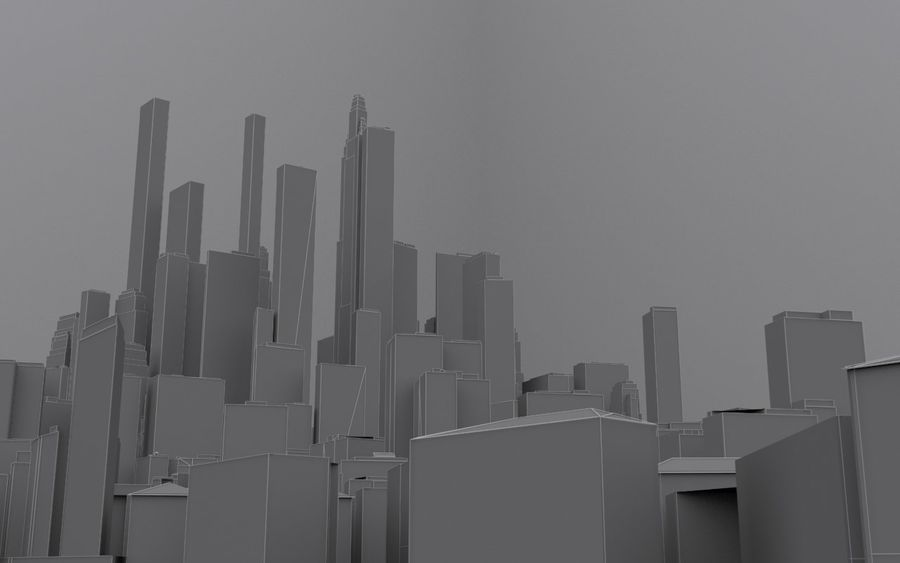 Distant City royalty-free 3d model - Preview no. 5
