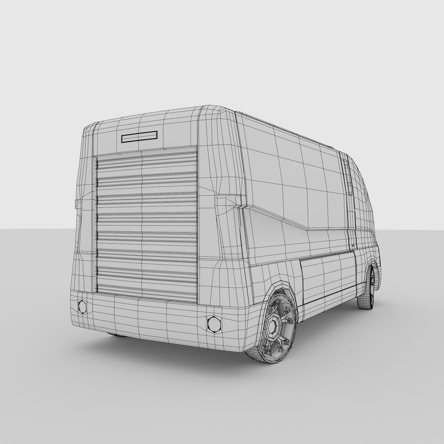 Autonomous parcel delivery concept royalty-free 3d model - Preview no. 16