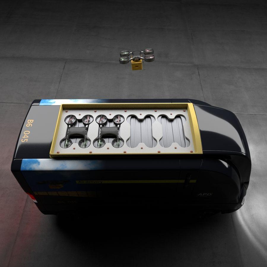 Autonomous parcel delivery concept royalty-free 3d model - Preview no. 3