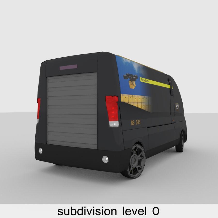 Autonomous parcel delivery concept royalty-free 3d model - Preview no. 12