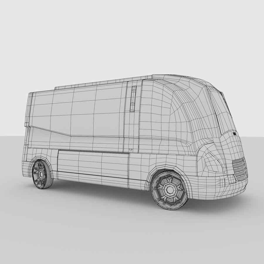 Autonomous parcel delivery concept royalty-free 3d model - Preview no. 15