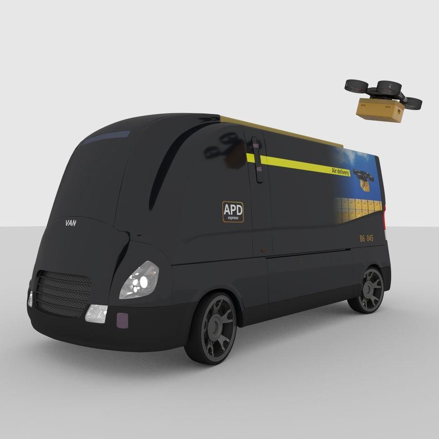 Autonomous parcel delivery concept royalty-free 3d model - Preview no. 6
