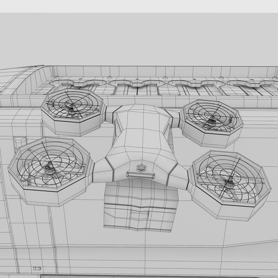 Autonomous parcel delivery concept royalty-free 3d model - Preview no. 18