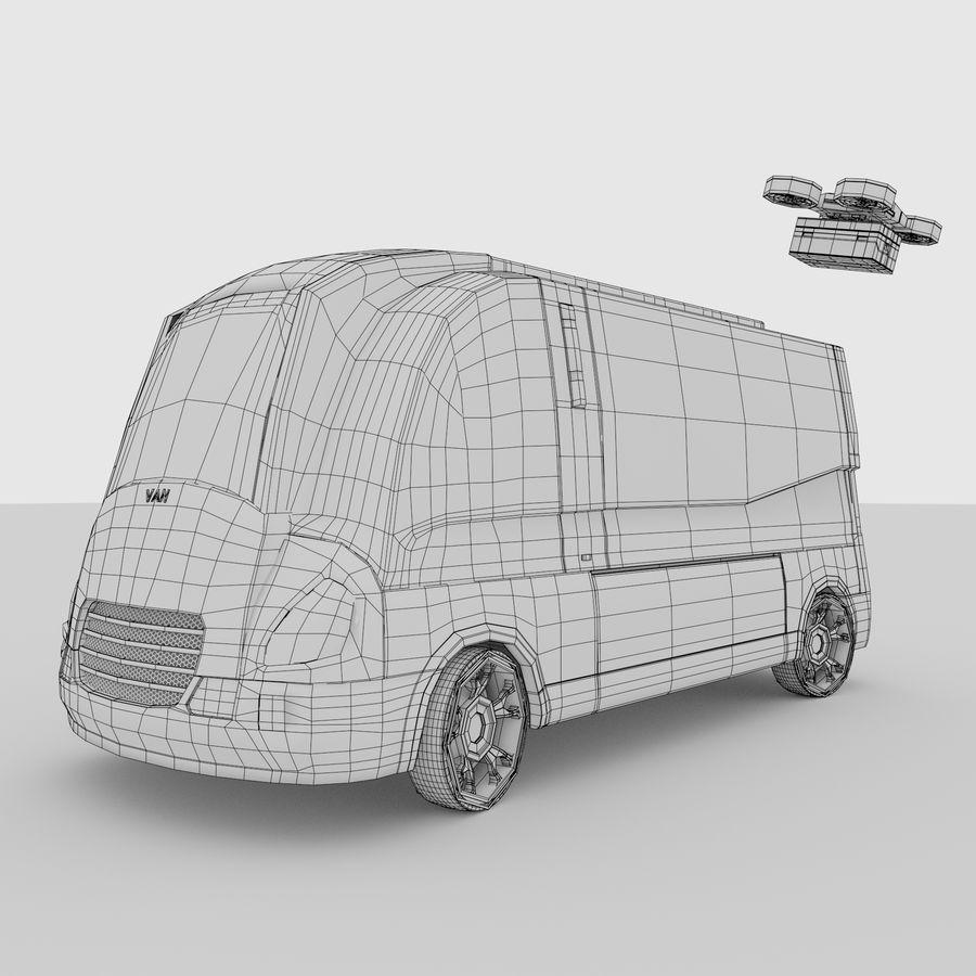 Autonomous parcel delivery concept royalty-free 3d model - Preview no. 14