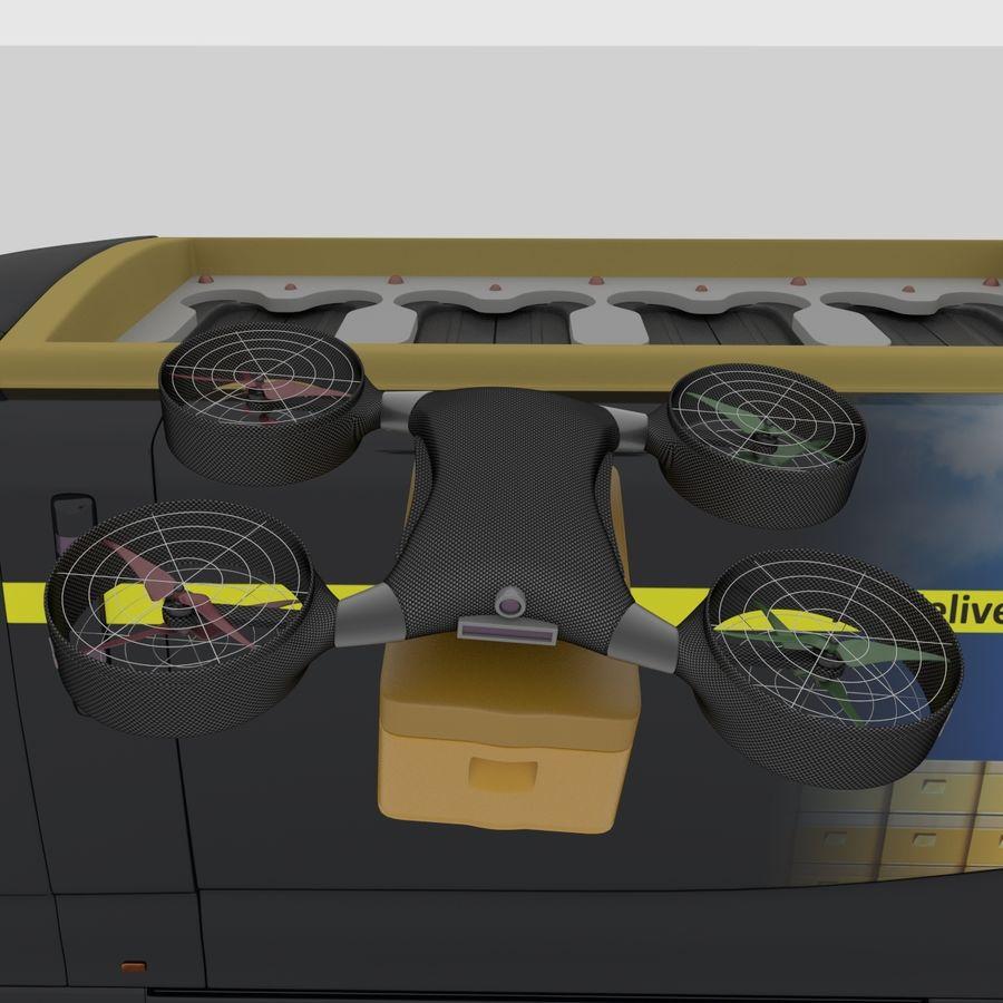 Autonomous parcel delivery concept royalty-free 3d model - Preview no. 10