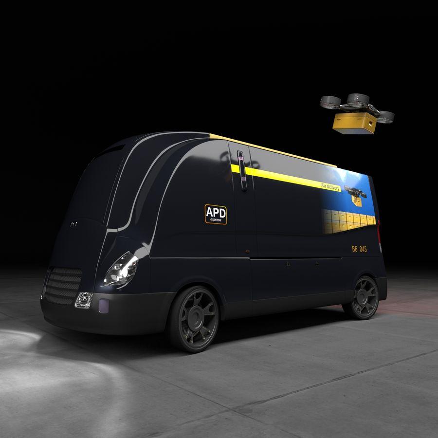 Autonomous parcel delivery concept royalty-free 3d model - Preview no. 1