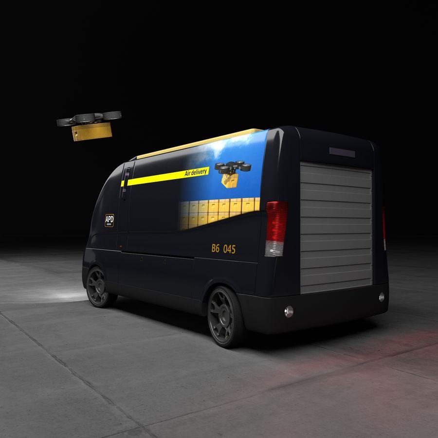 Autonomous parcel delivery concept royalty-free 3d model - Preview no. 2