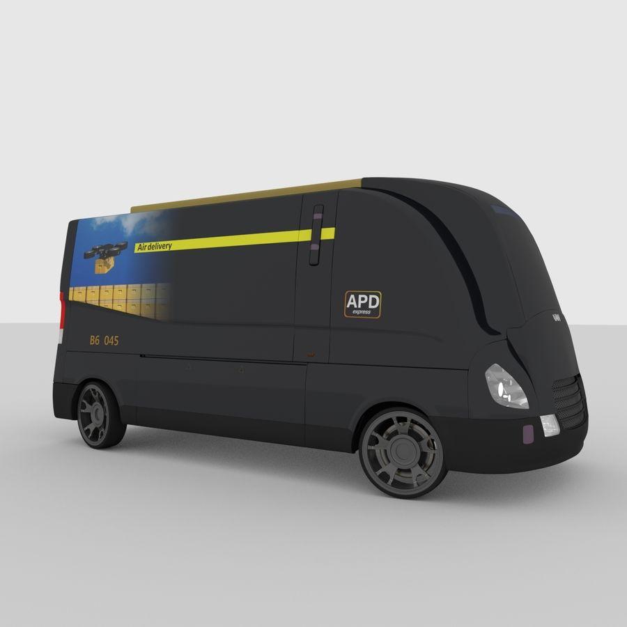 Autonomous parcel delivery concept royalty-free 3d model - Preview no. 7