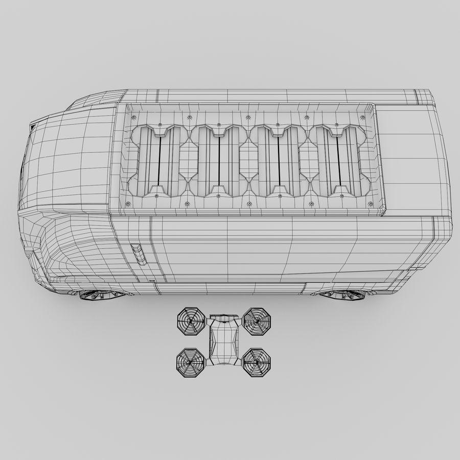 Autonomous parcel delivery concept royalty-free 3d model - Preview no. 17