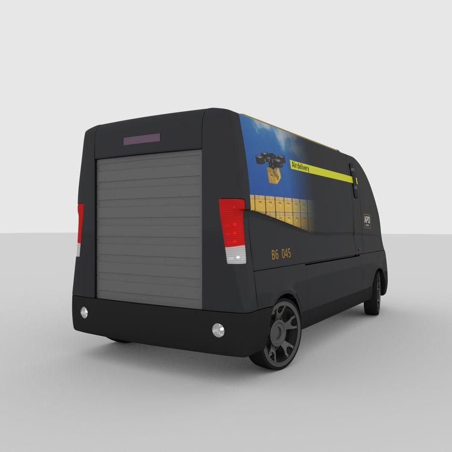 Autonomous parcel delivery concept royalty-free 3d model - Preview no. 8