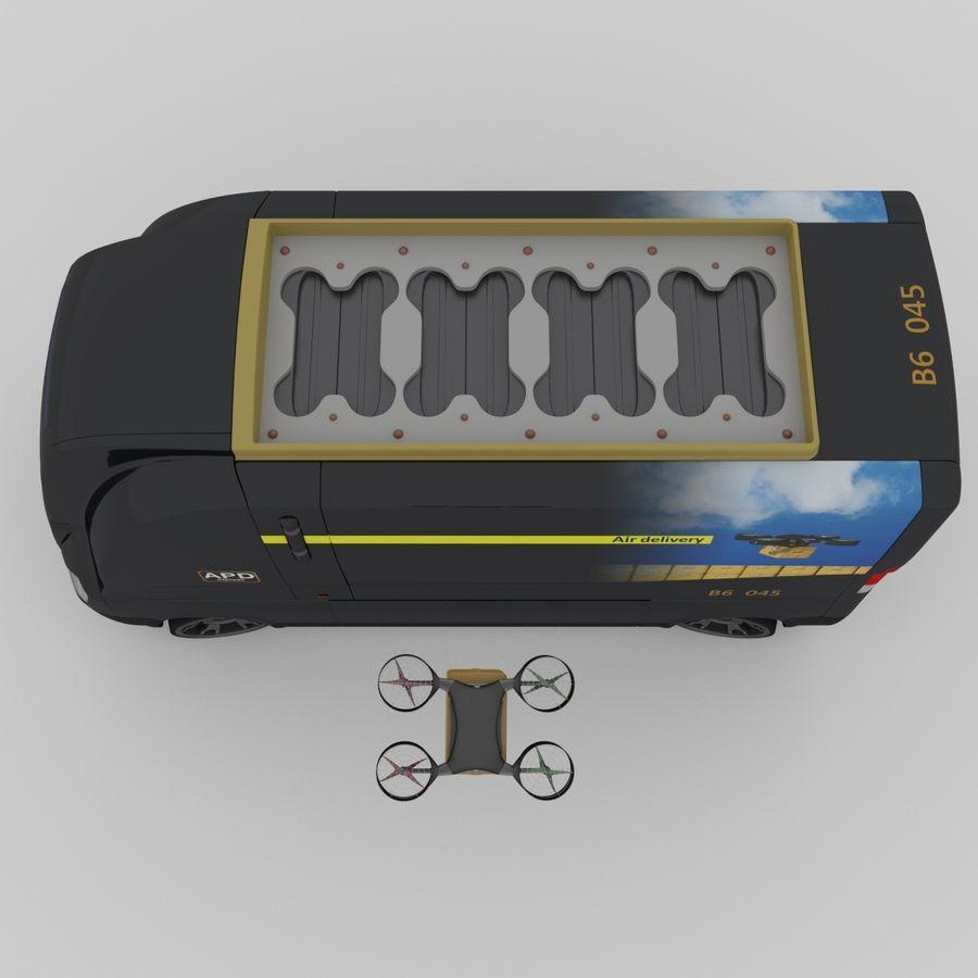 Autonomous parcel delivery concept royalty-free 3d model - Preview no. 9