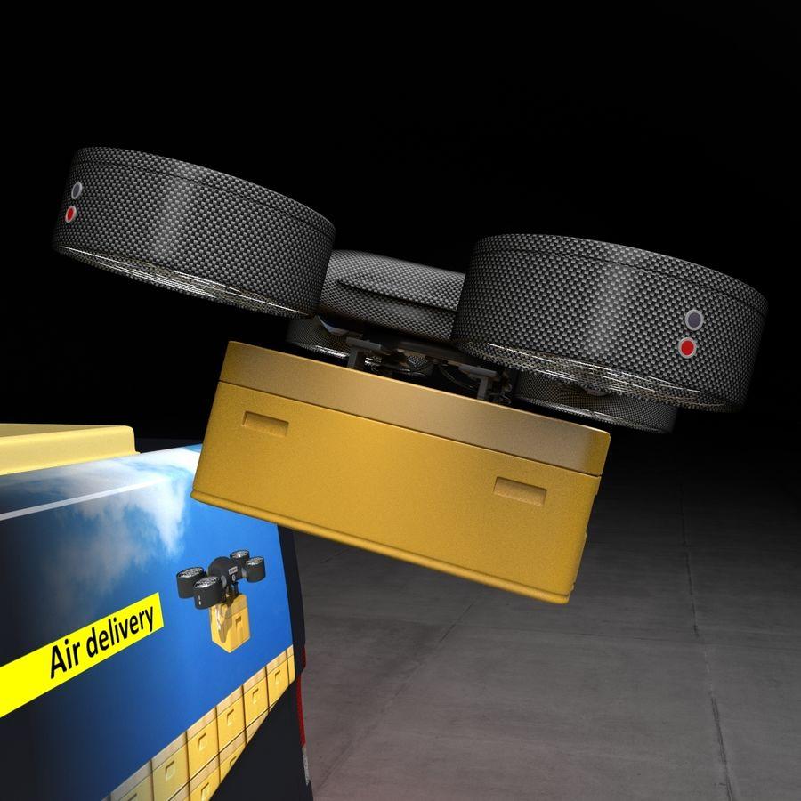 Autonomous parcel delivery concept royalty-free 3d model - Preview no. 5