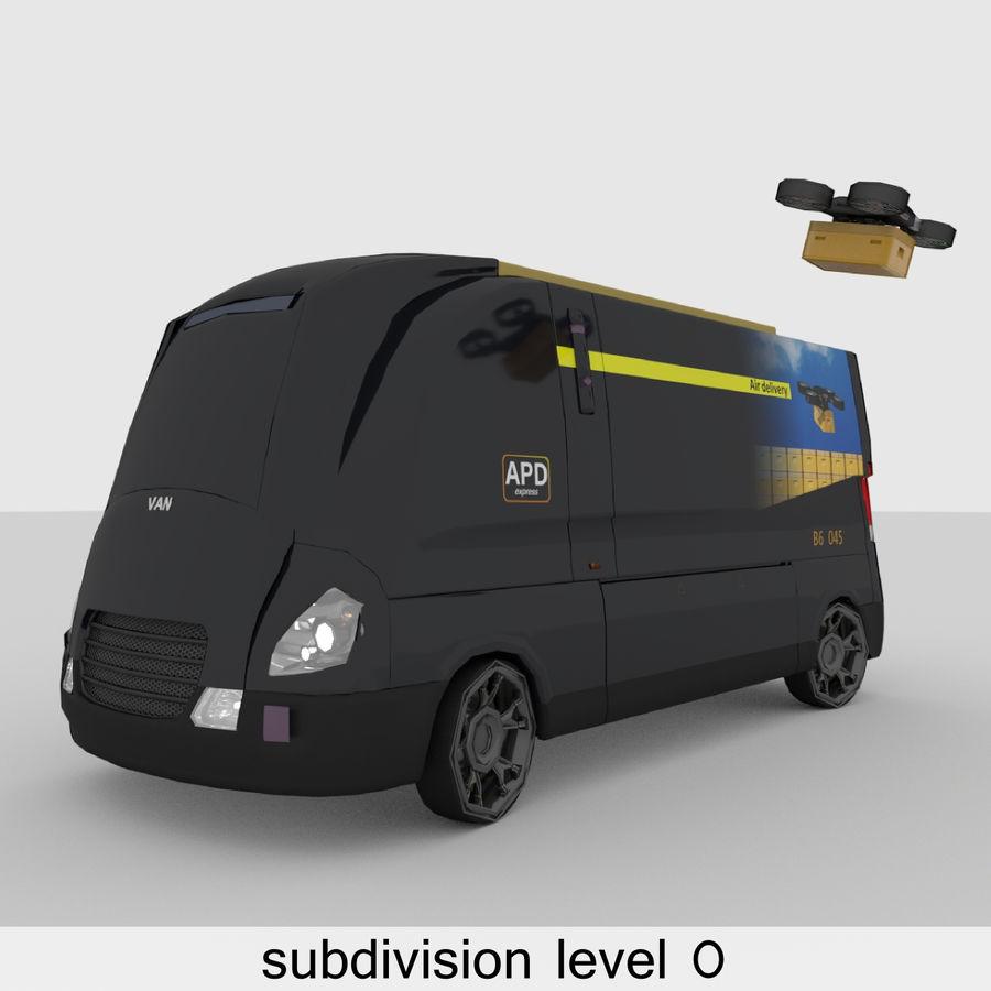 Autonomous parcel delivery concept royalty-free 3d model - Preview no. 11