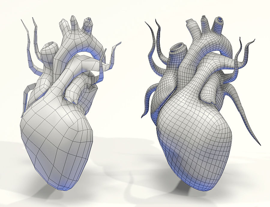 Heart Low High Poly royalty-free 3d model - Preview no. 4