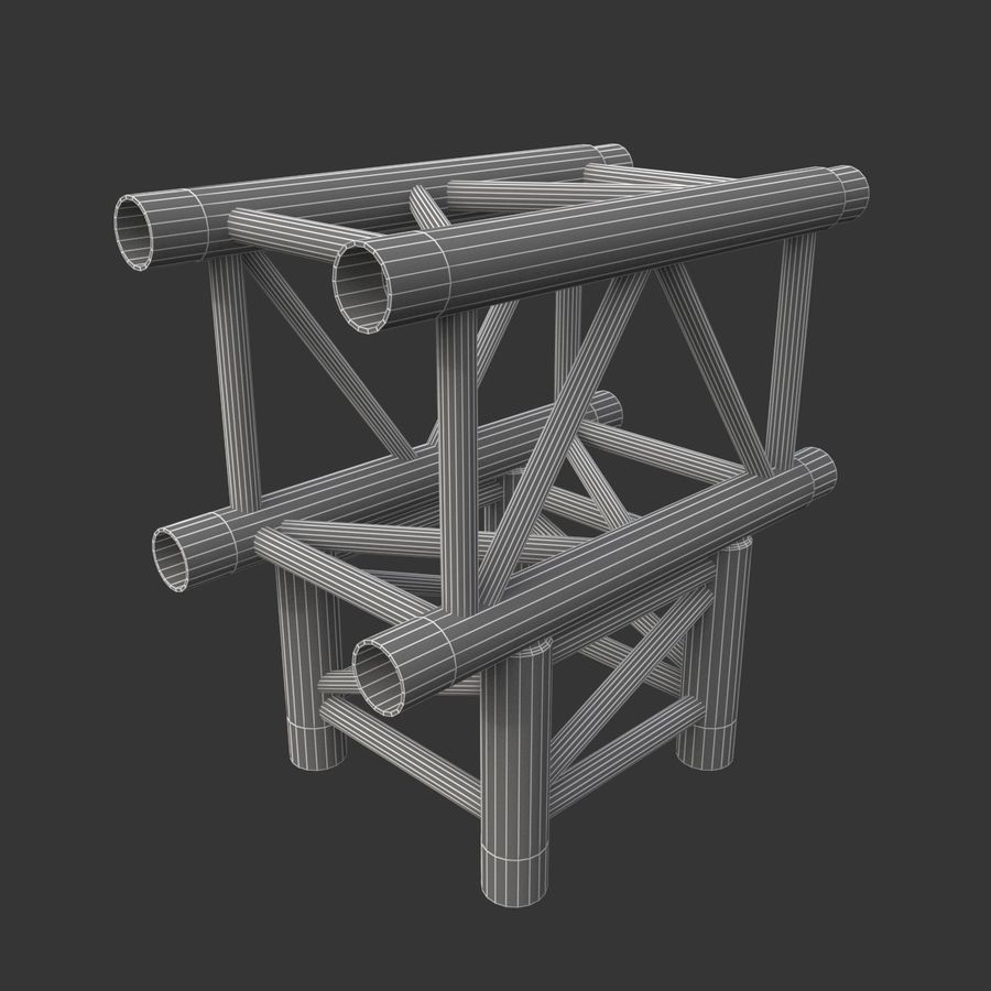 Arc & Corner Truss Collection royalty-free 3d model - Preview no. 10