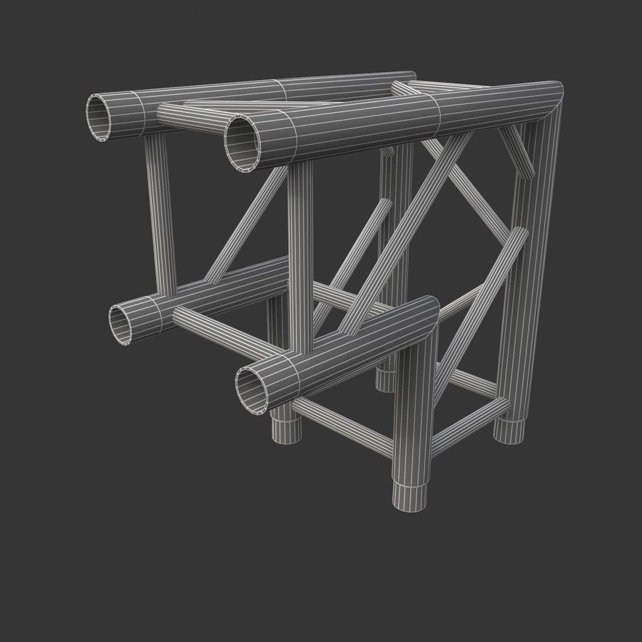 Arc & Corner Truss Collection royalty-free 3d model - Preview no. 8