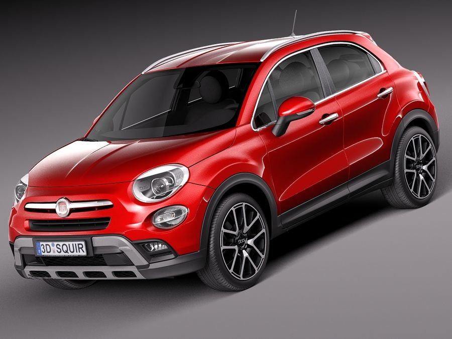 fiat 500x cross 2015 3d model $129 - .obj .max .lwo .fbx .c4d .3ds