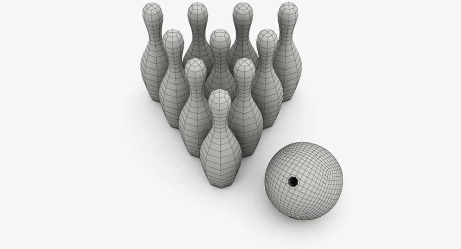Bowling Pins royalty-free 3d model - Preview no. 13